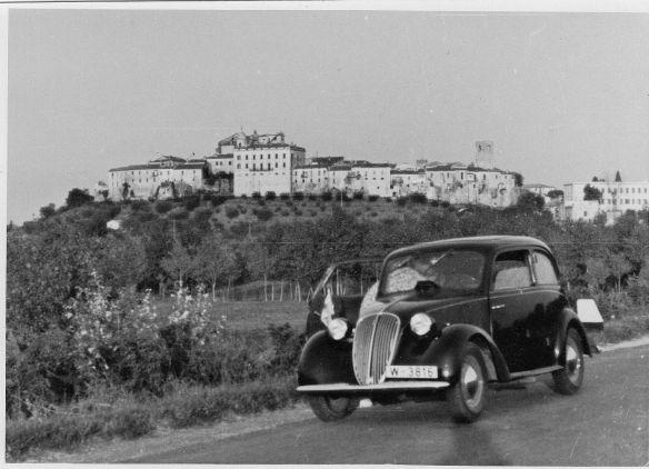 Fiat 1100 aus Wien in Italien Sommer_1939