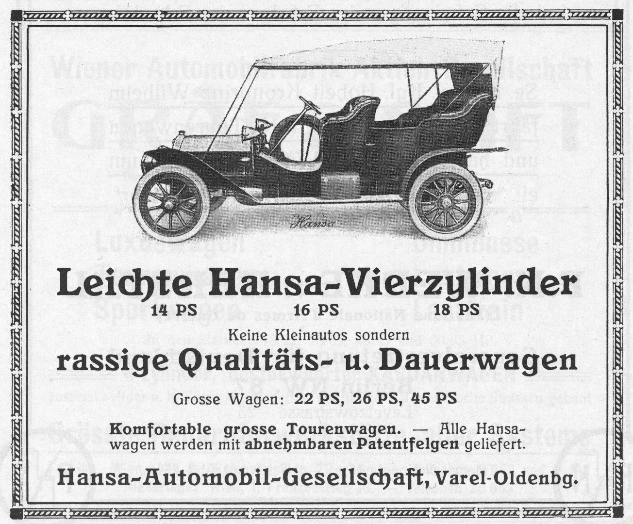 Hansa-Reklame_Braunbeck_1910_Galerie