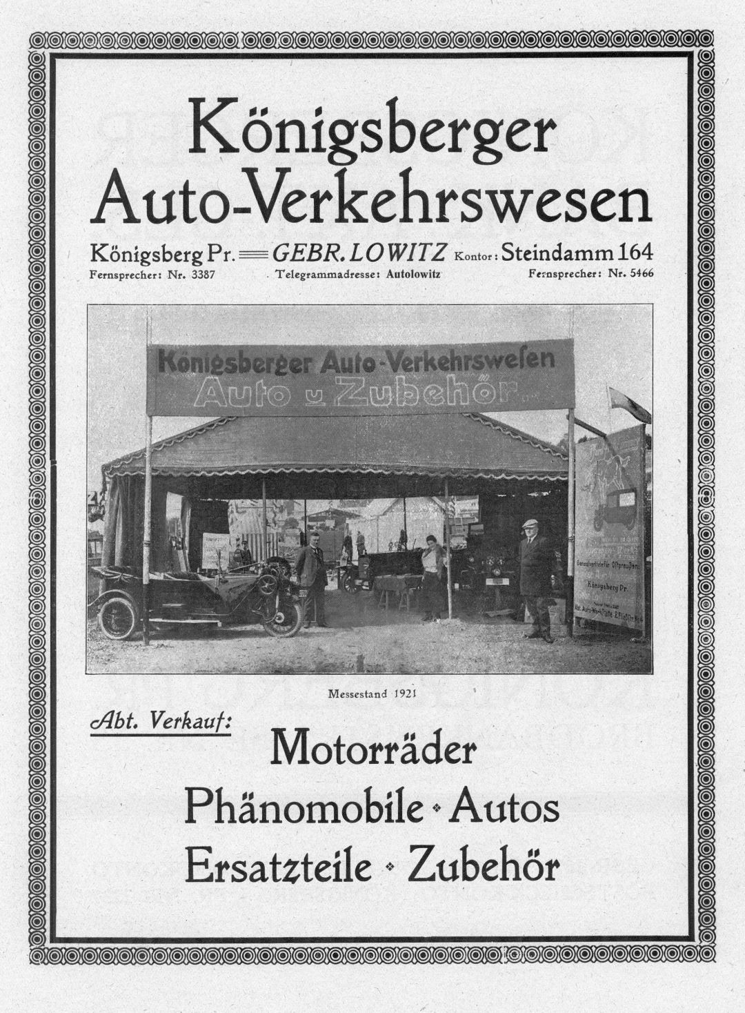 Phänomen-Reklame_Königsberg_1921_Galerie