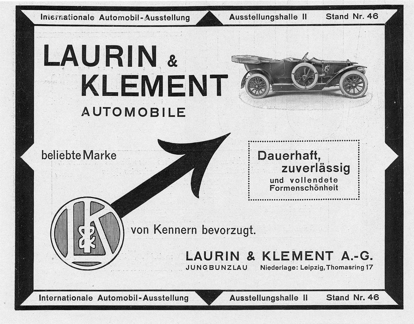 Laurin_Klement_Reklame_IAA_1911_Galerie