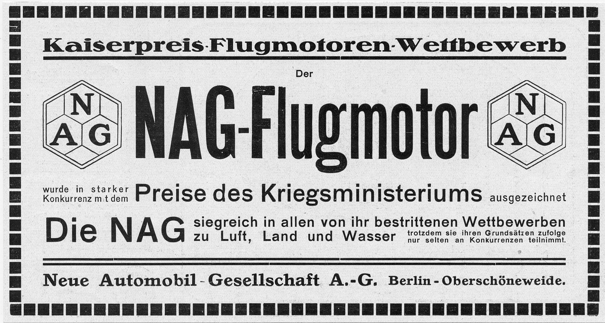 NAG-Flugmotor-Reklame_vor_1915_Galerie