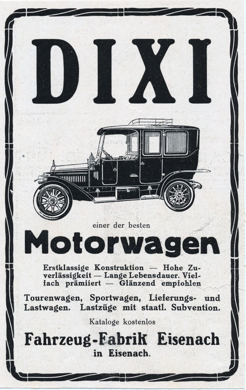 Dixi-Reklame_vor_Wk1_Galerie