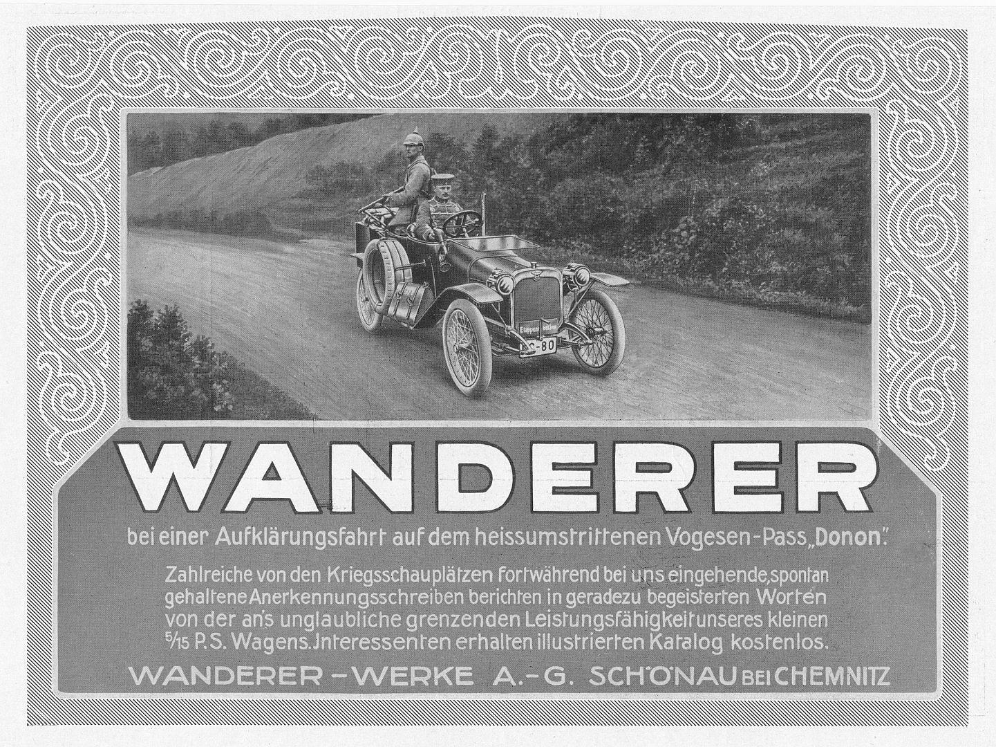 Wanderer_W3_5-15_PS_Vogesen_Donon-Pass_Reklame_August_1914_Galerie